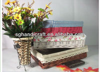 baby gift wicker plant basket