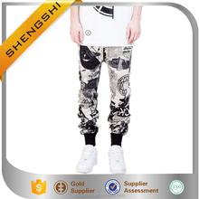supply new style newspaper print wholesale boys cotton harem pants