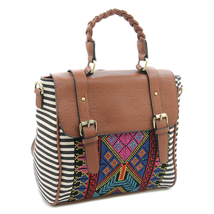 Good Quality Portabale Convertible Aztec Striped Backpack