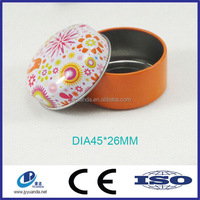 Custom metal small round colorful pill tin boxes