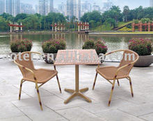 Rattan patio furniture bamboo set