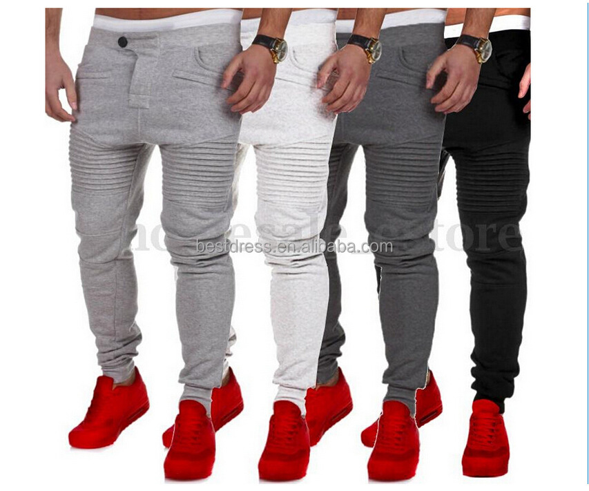 New Mens Slim Fit Trousers Tracksuit Bottoms Skinny Joggers
