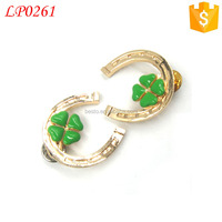 Lucky Unique metal Four-leaf clover for suit,dress,hat pin/ brooch/lapel pin