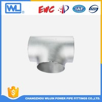 Natural Gas Fittings Butt-Welding Steel Tee Pipe