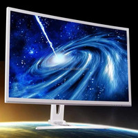 Game plus function white cabinet FHD 32 inch curved LED monitor
