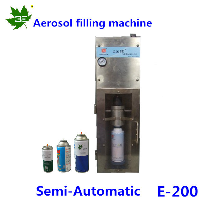 Manufacture OEm 3E Brand smart Semi-auto aerosol filling machine/for all kinds of paints