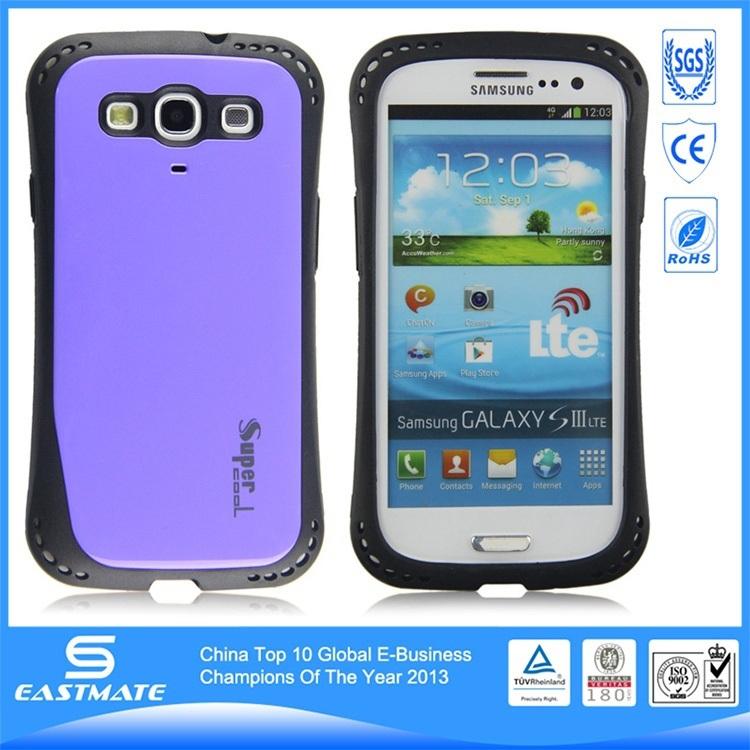premium soft tpu 3d sublimation blank leather phone case for samsung s3