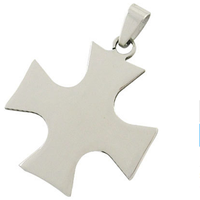 Yiwu Aceon Stainless Steel Metal Stamping Blank Pendant, MALTESE CROSS shape Tag