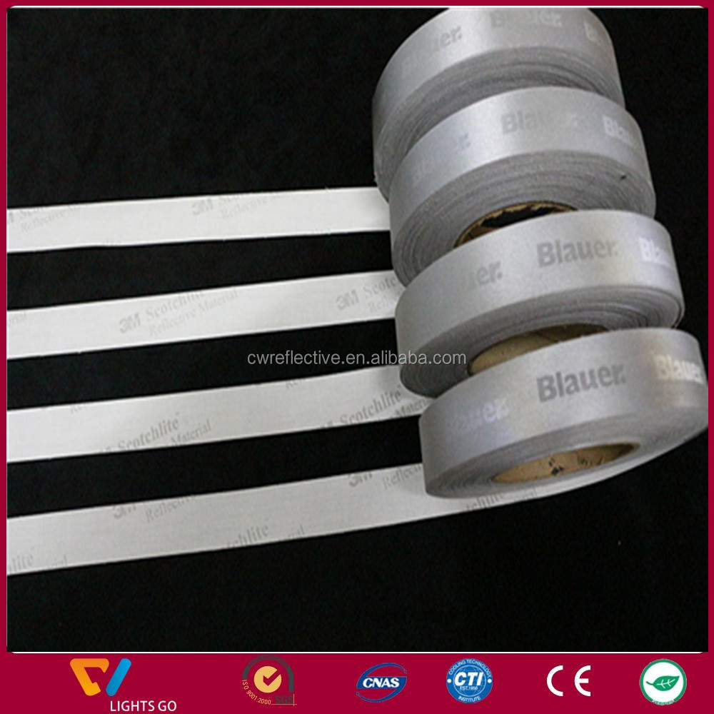 Custom printing 3m 8910 reflective tape with strong self-adhesive