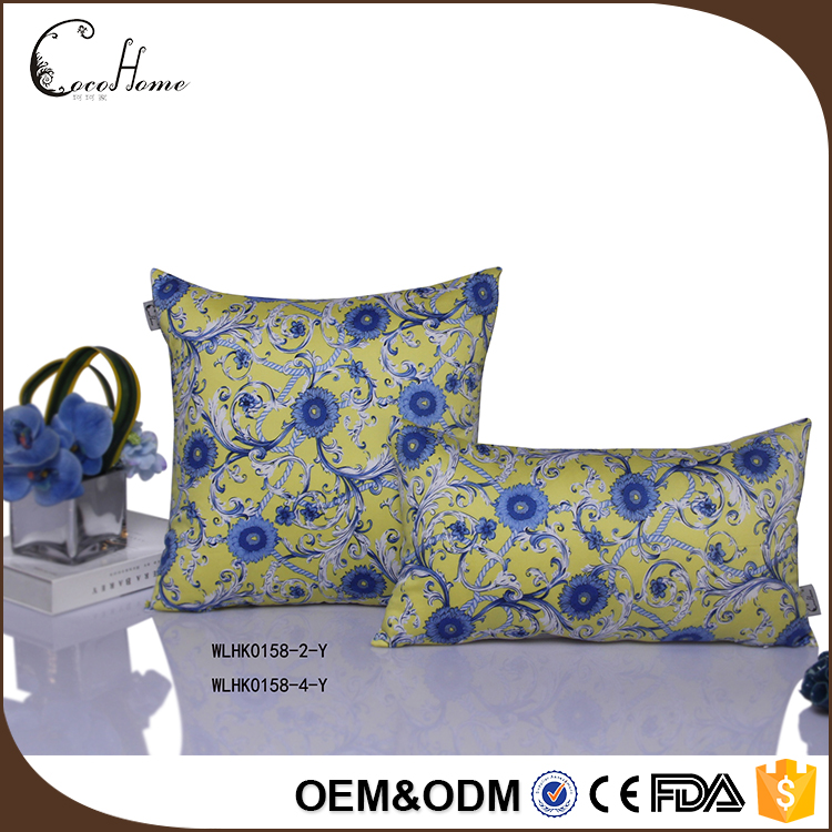 Wholesale cushion manufacturer , factory price custom yellow hugging pillow for sofa