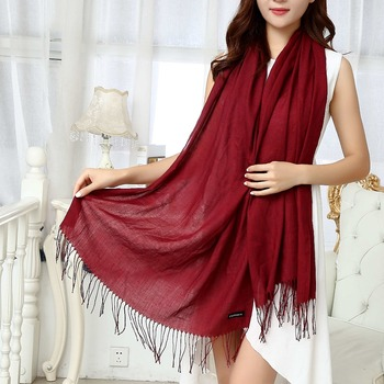 Scarf women thin large fashion soft pashmina wholesale winter warm plain ladies shawls
