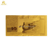 Lietuvos 24k gold foil banknotes / Engrave Bank Notes Art And Craft For Wedding Decorations