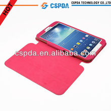 For Samsung Galaxy Tab 3 8.0 Tablet 3 Folding Stand PU Leather Case Cover