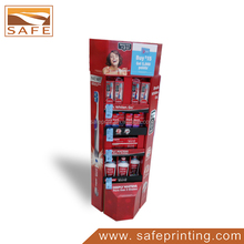 store 3 tier cardboard display for battery product