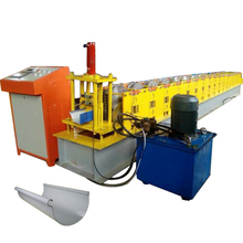 PLC metal roof gutter sheet glazed tile roll forming machine