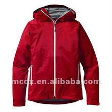 latest design fashion waterproof red parkas for women