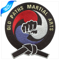 Custom team patches, Karate logo clothes patch for sale, sew on chest brand Embroidery patch