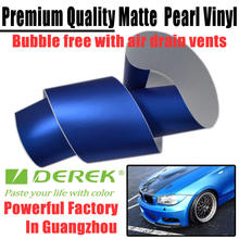 Blue Matte Chrome for Auto Wrapping Film with Air Free Channels/Size:1.52*30m/Thickness:0.16mm/Fast shipping