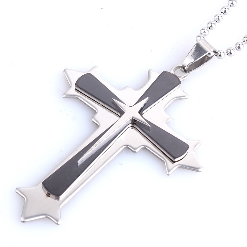 steel necklaces jewellery three layers cross <strong>pendants</strong>