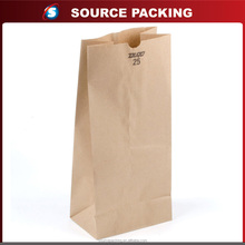 Recyclable craft food paper bag for sandwich and bread