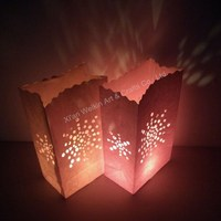 Paper crafts colored luminary candle bags
