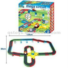 Electric train rail car battery operated toys train mega circuit