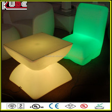 China cheap plastic furniture outdoor illuminated lounge led furniture for garden