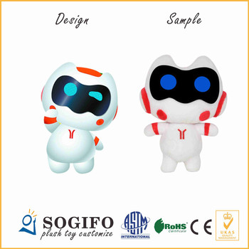 Guangzhou Metro Subway Customize Cartoon Robot Tool Arms Stuffed Soft Plush Kid Robot Toy