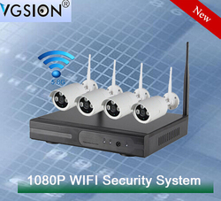 NVR KIT 1080p 2.0 mp wifi IP Camera P2P CCTV Security Surveillance system CCTV 4ch Nvr Kit Wireless Wifi Cameras
