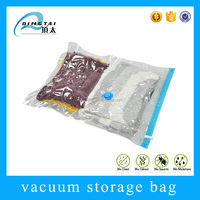 travel space bag vacuum plastic transparent bags clothes/airtight bag/vacuum sealed plastic bag organizer