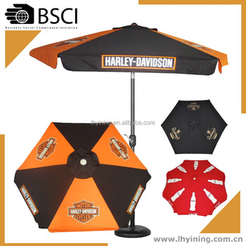 10 feet outdoor printing umbrella 250 cm bistro adverting parasol 300cm outside drink brand printing umbrella