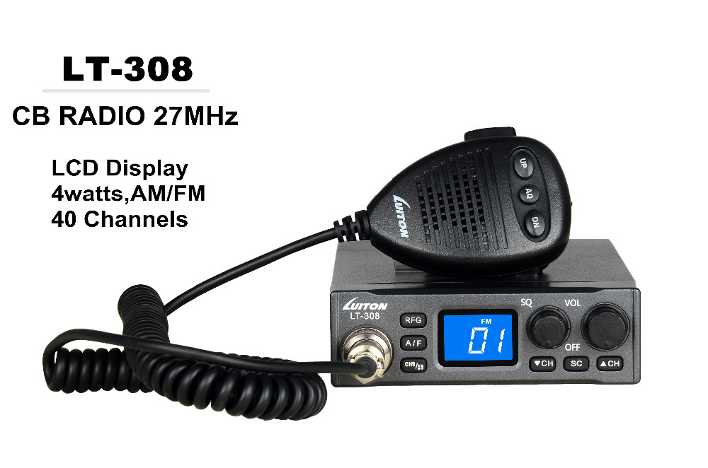 luiton LT-308 LCD display best wholesale 10 meter 40 channels am fm 27mhz cb radio