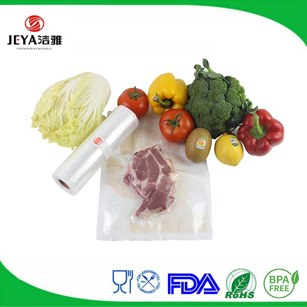 wholesale biodegradable ribbed food saver vacuum sealer bags on roll for food