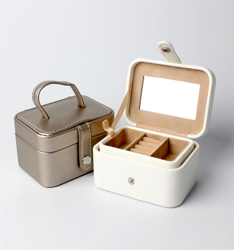 Custom White Leather Ornaments Jewellery Gift Box