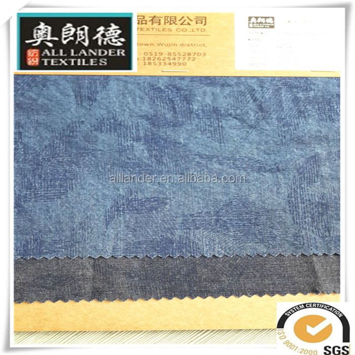 print woven denim jeans fabric factory in changzhou denim dangri