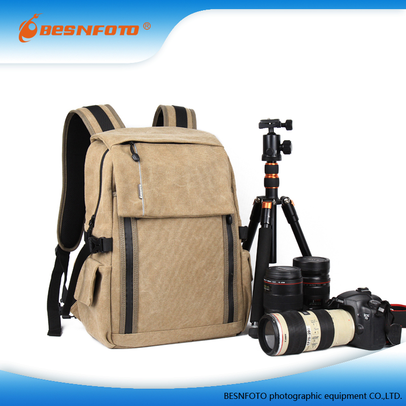 2016 New Camera Bag Colorful Canvas Camera Backpack Rucksack For DSLR Causal Bag