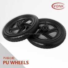"12"" Solid PU beach wheels tire tyre for kayak beach cart/trolley"