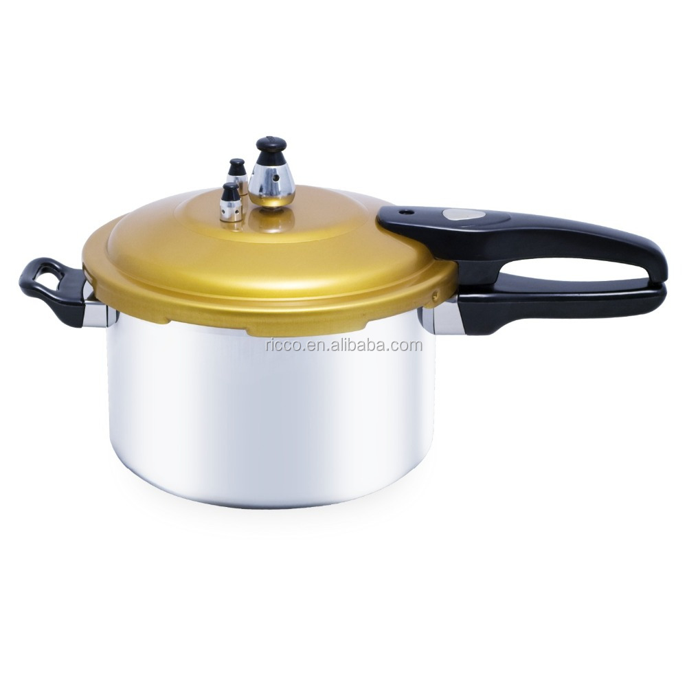 Aluminum pressure cooker with anodized lid