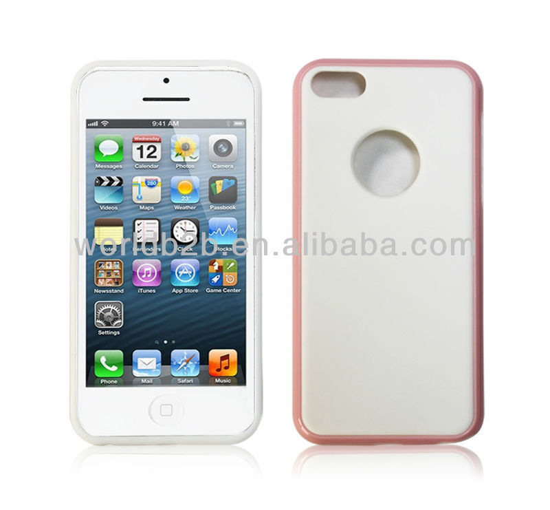 TPU + PC Protective Case Cover for iPhone 5C, with logo hole