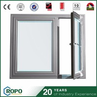 brush float glass fabrication of aluminum casement window