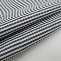 100% Cotton Yarn Dyed Black and White Stripe Fabric
