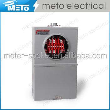 METO superior electrical power galvanized meter socket box for 13 terminals/plug in meter base
