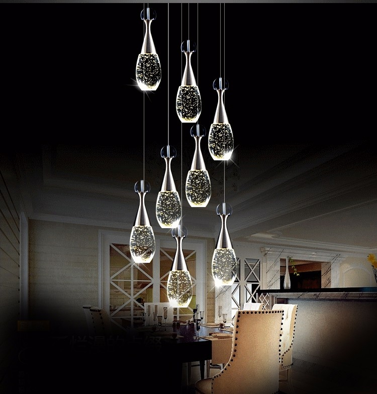 new arrival creative led bubble crystal hanging lamp