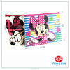 2 zipper 2 layer PVC print school use pencil case
