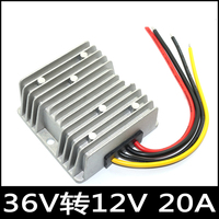 DC DC 12V 20A buck converter input 25-50V/36V 42V 45V 48V high power supply 240W waterproof converter