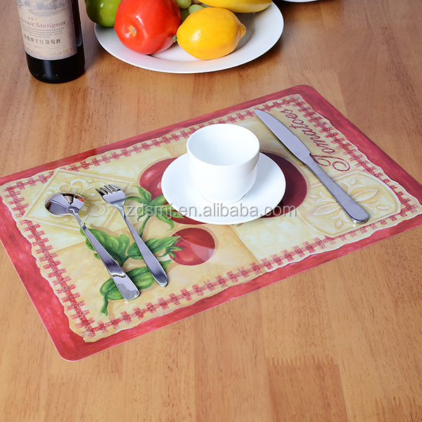 Custom Full Color Printing PP Placemat , Pp table mat ,Plastic Mat