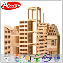Creative natural color wooden buliding block pieces