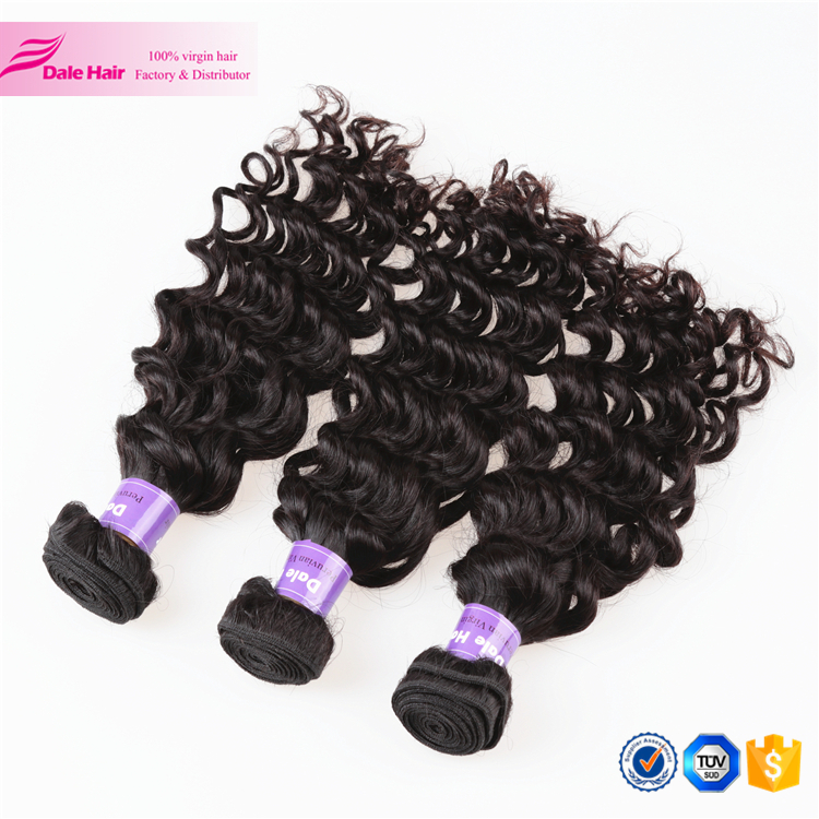 Natural silky hot fashion hair peoduct for peruvian hair extension ripple deep wave