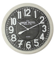 antique white number and white aluminum hands young town quartz clock