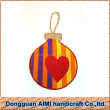 AIMI Popular exquisite decorative hanging handmade needlepoint christmas ornament